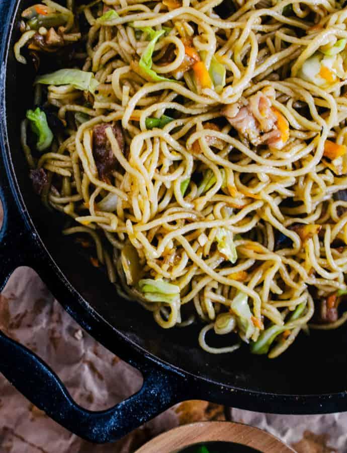 food truck stir fry noodles