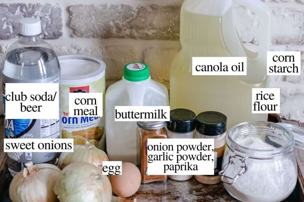 Labeled ingredients with text showing what ingredients needed to make recipe.