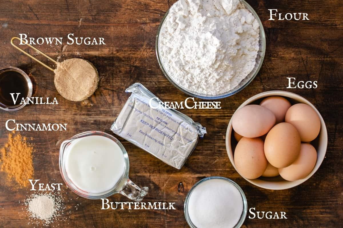 Labeled ingredient shot of recipe ingredients.
