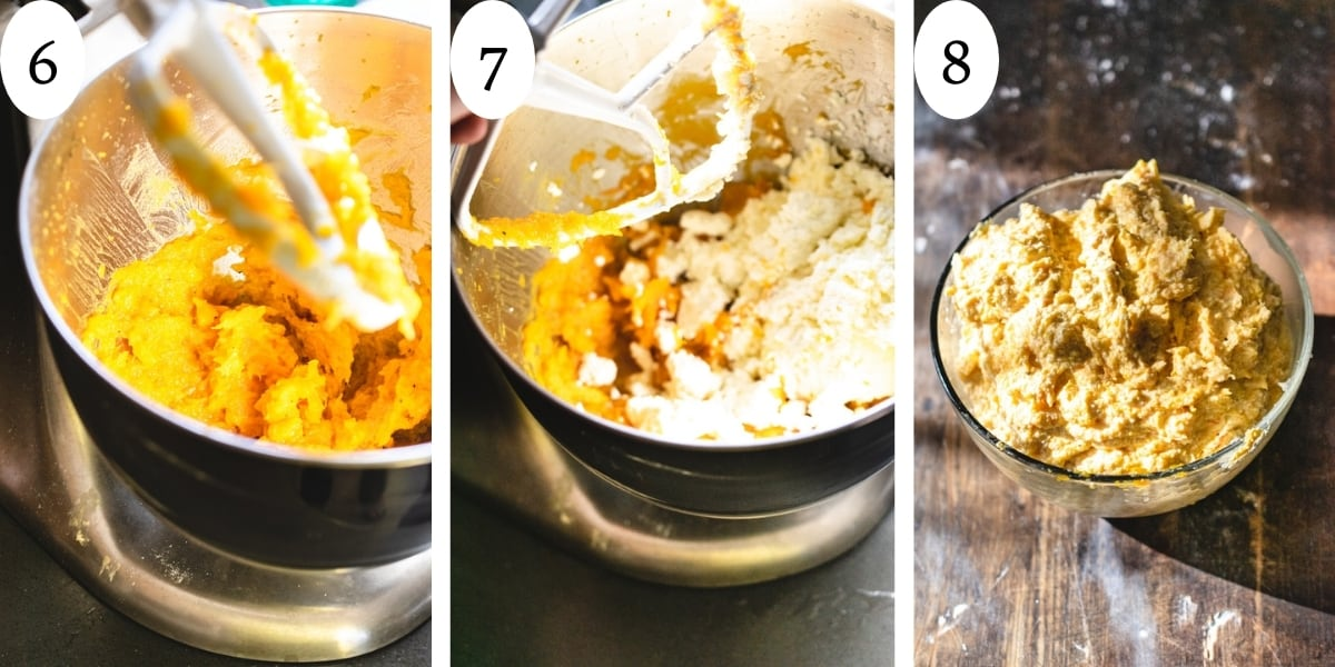 3 step image graphic showing steps to make recipe filling.