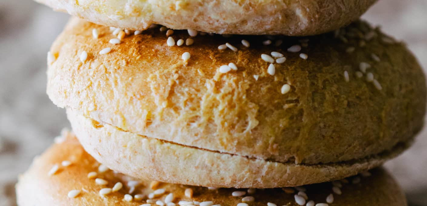 soft homemade hamburger buns
