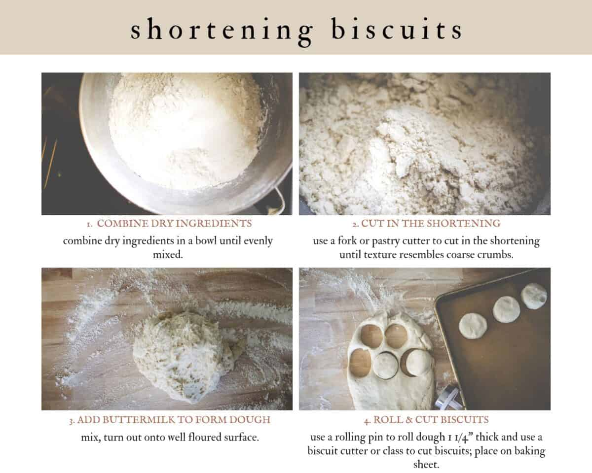 info graphic on how to form shortening biscuit dough