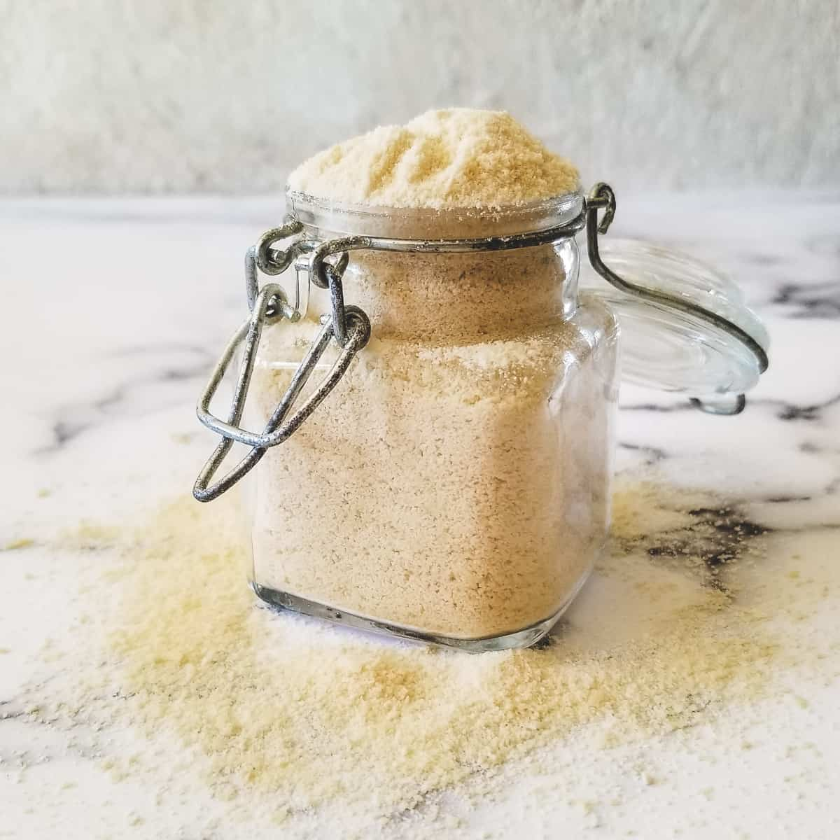 jar of homemade dehydrated buttermilk