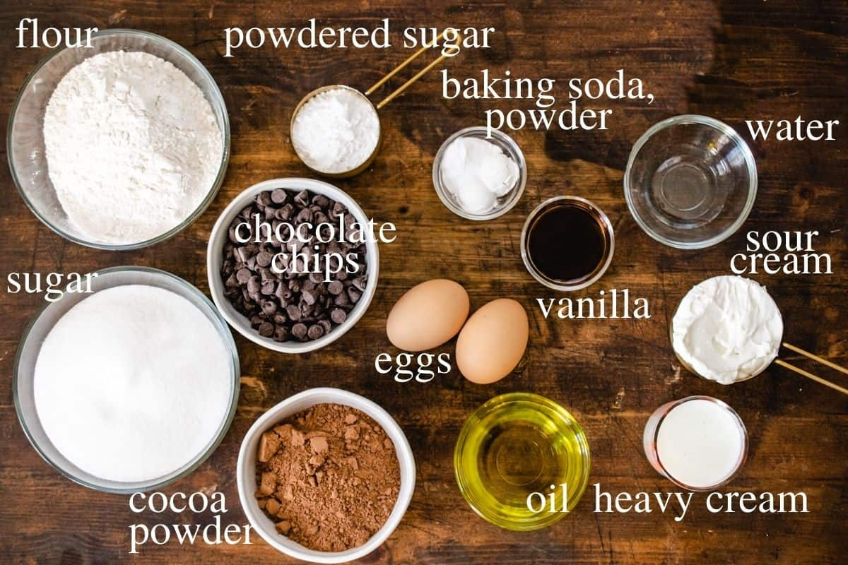 Labeled ingredients in recipe.